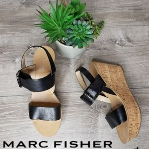 Marc Fisher size 9 cork wedge heel sandles size 9